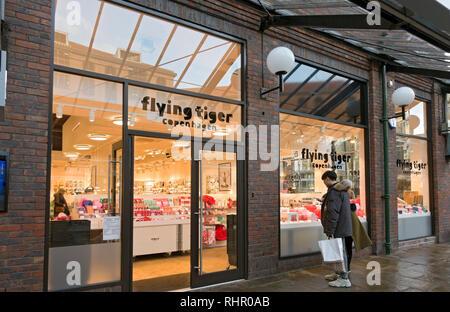 Flying Tiger Copenhagen shop York North Yorkshire England UK United Kingdom GB Great Britain - Stock Image