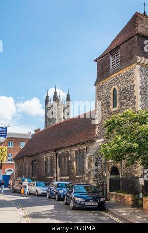 St Alphedge's Church,St Alphedge Lane,Canterbury Cathedral,Canterbury,Kent,England,UK - Stock Image