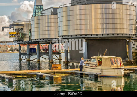 Visiter To The Oil Museum, Stavanger Norway - Stock Image