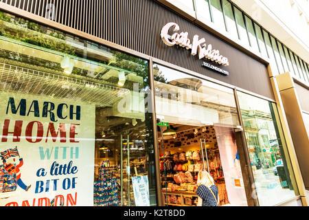Cath Kidston, Cath Kidston shop, Cath Kidston store, Cath Kidston Oxford St London, Cath Kidston sign, Cath Kidston stores, Cath Kidston shops, London - Stock Image