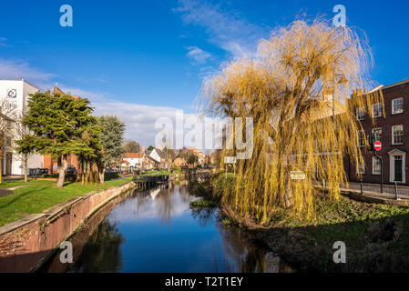 The River Welland, Spalding, Lincolnshire, England - Stock Image
