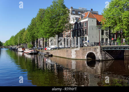 The Herengracht canal in Amsterdam, Netherlands - Stock Image