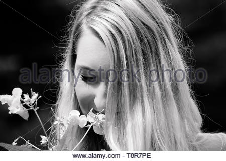 These flowers should tell you something - Stock Image