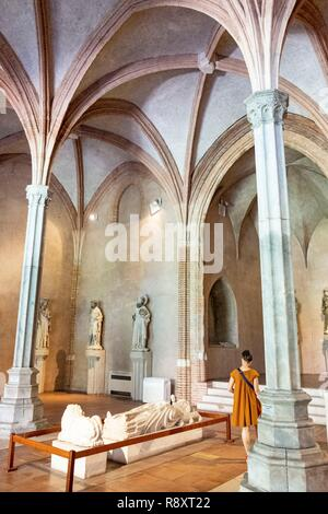 France, Haute Garonne, Toulouse, Musee des Augustins created in 1793 in the former Augustinian convent of Toulouse - Stock Image