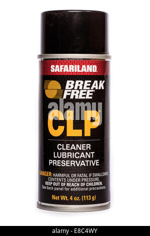 A can of Break Free CLP lubricant and cleaner. - Stock Image