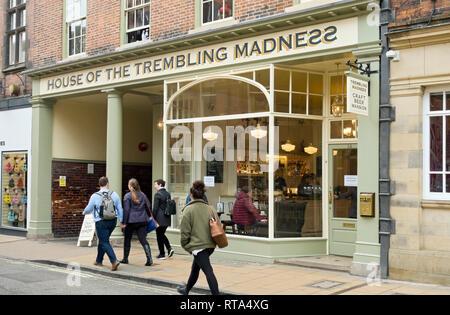House of the Trembling Madness bar Lendal York North Yorkshire England UK United Kingdom GB Great Britain - Stock Image