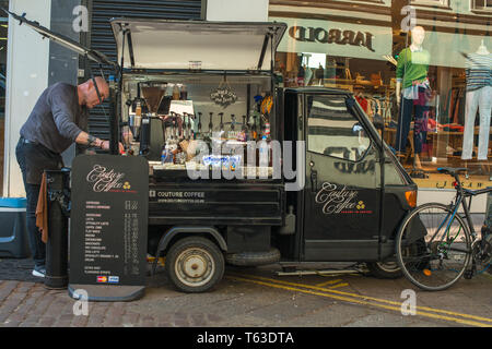 A mobile coffee bar cafe in Norwich , Norfolk , UK. - Stock Image