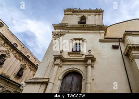 Saint Clare of Assisi church in Noto city, Sicily in Italy - Stock Image
