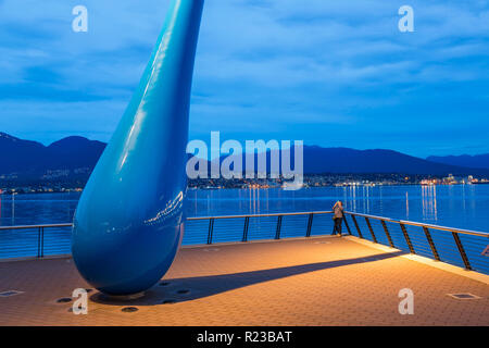 Vancouver, Canada - September 2015: Sculpture titled 'The Drop' Vancouver Convention Center West, Vancouver, British Columbia, Canada - Stock Image