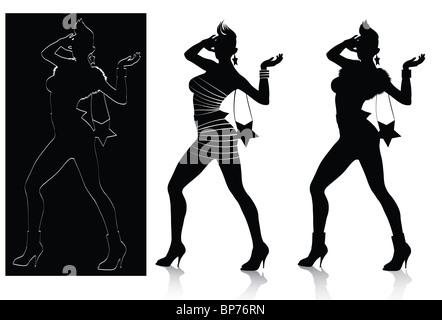 Fashion Silhouette Set - Stock Image