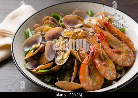 Food seafood soup - Stock Image
