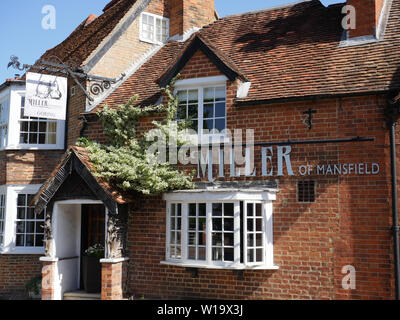 Miller Of Mansfield, Restaurant, Goring-on-Thames, Oxfordshire, England, UK, GB. - Stock Image