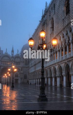 Street light Venice, Italy - Stock Image