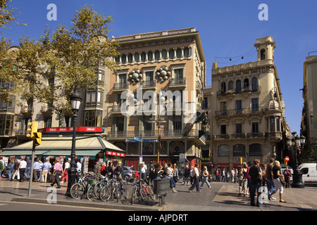 Spain Barcelona Las Ramblas - Stock Image