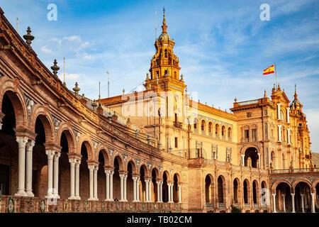 Plaza de España, Seville, Spain - Stock Image