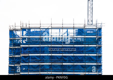 Gosford, New South Wales, Australia - September 5. 2018: Construction and building progress update 131. on new home units building site at 47 Beane St - Stock Image