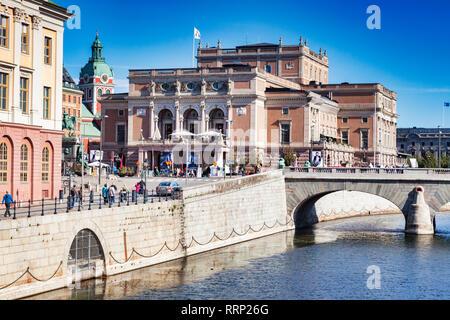 16 September 2018: Stockholm, Sweden - The Opera House, opened in 1782, - Stock Image