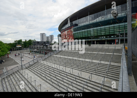 Stairway to the Emirates stadium at Arsenal FC - Stock Image