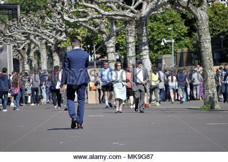Walking people - Stock Image