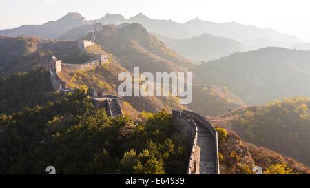 Great Wall; Jinshanling; Beijing; China - Stock Image