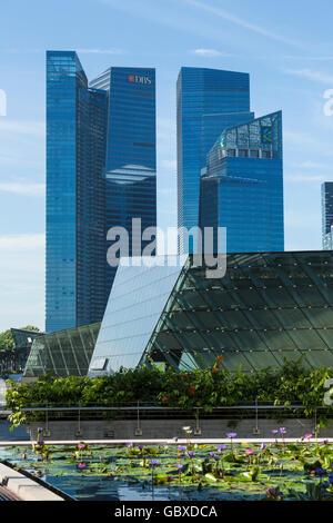 Singapore DBS banks, modern office buildings, skyline - Stock Image