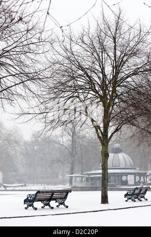 Victoria Park in January, London, United Kingdom - Stock Image