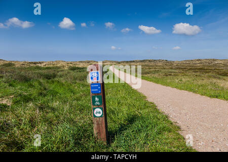 Cycle route, Denmark. - Stock Image