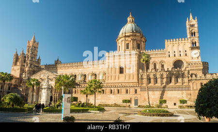 Roman Catholic Cathedral in the City of Palermo, Sicily, Italy - Stock Image