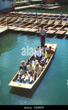 Punting on the River Cam Cambridge - Stock Image