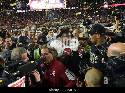 Glendale, AZ, USA. 11th Jan, 2016. Derrick Henry #2 of Alabama during the 2016 College Football Playoff National - Stock Image