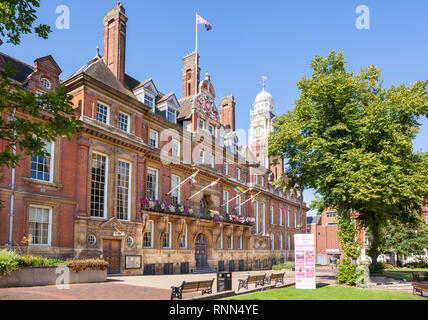 Leicester Town Hall, Town Hall Square, city centre, Leicester Leicestershire East Midlands,England,uk,gb,Europe - Stock Image