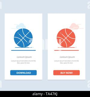 Basketball, Ball, Sports, Usa  Blue and Red Download and Buy Now web Widget Card Template - Stock Image