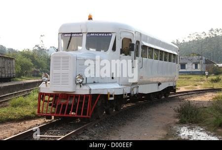 Railway Truck or Train Engine, Andasibe Village, Toamasina Province, Madagascar, Africa. - Stock Image