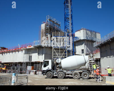 The tower in the new LUMA complex, designed by Franck Gehry, under construction in Arles, France. - Stock Image