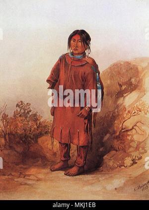 Blackfoot Girl - Stock Image