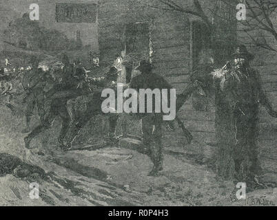The St. Albans Raid, 19 October 1864, Vermont.  The most northernmost land action of the American Civil War - Stock Image