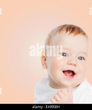 smiling baby - Stock Image