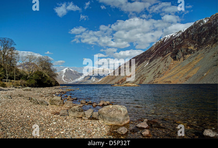 Western Side of Wast Water - Stock Image