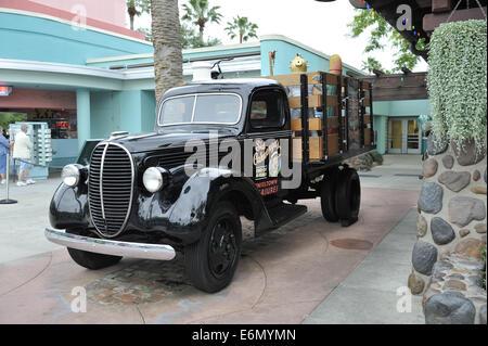 vintage truck at Disney's Hollywood Studios, Orlando, Florida, USA - Stock Image