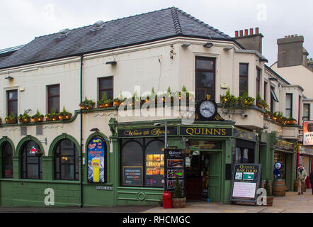 14 December 2018 Quinn's Traditional Irish Pub in Newcastle County Down in the dull light of a mid winter afternoon - Stock Image