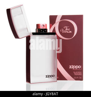 Zippo's 'The Woman' women's fragrance in a lighter shaped bottle - Stock Image