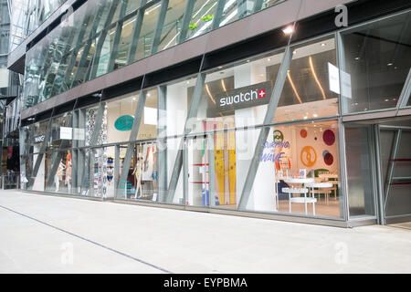 The Swatch shop at One New Change in St Pauls, City of London. - Stock Image