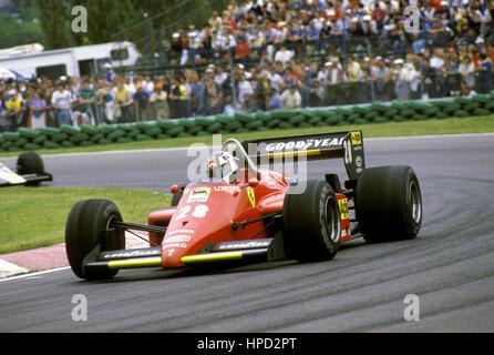 1985 Stefan Johansson Swedish Ferrari 156 85 Montreal Canadian GP 2nd - Stock Image