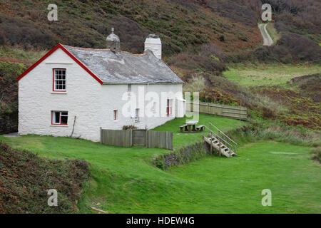 Blackpool Mill Cottage a holiday cottage owned by the Hartland Abbey Estate featured in the 2016 BBC series 'The - Stock Image