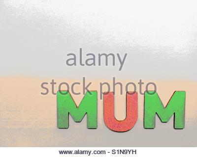 Mum (word) - Stock Image
