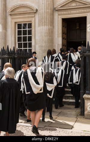 Cambridge University graduates Senate House to receive degree, England - Stock Image
