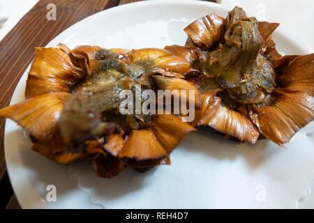 Food Rome Italy Roman Jewish fried artichokes - Stock Image