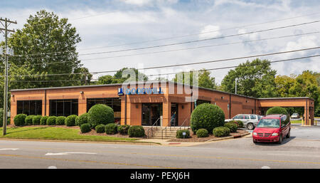 HICKORY, NC, USA-15 AUGUST 18:  A Goodwill Industries store, a non-profit chain of retail thrift stores, operating in 16 countries. - Stock Image