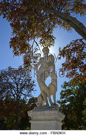 Statue In Park - Stock Image