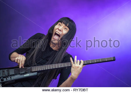 BO NINGEN performing live at Musilac summer festival, 13 july 2015 - Stock Image